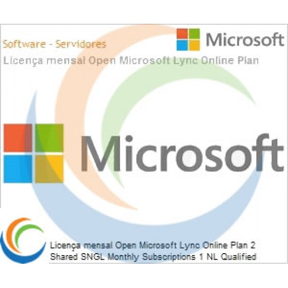 Licença mensal Open Microsoft Lync Online Plan 2 Shared SNGL Monthly Subscriptions 1 NL Qualified