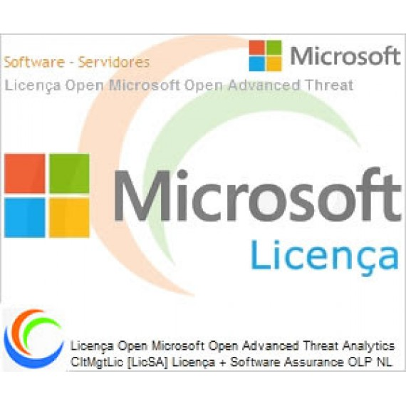 Licença Open Microsoft Open Advanced Threat Analytics CltMgtLic [LicSA] Licença + Software Assurance OLP NL Per USER