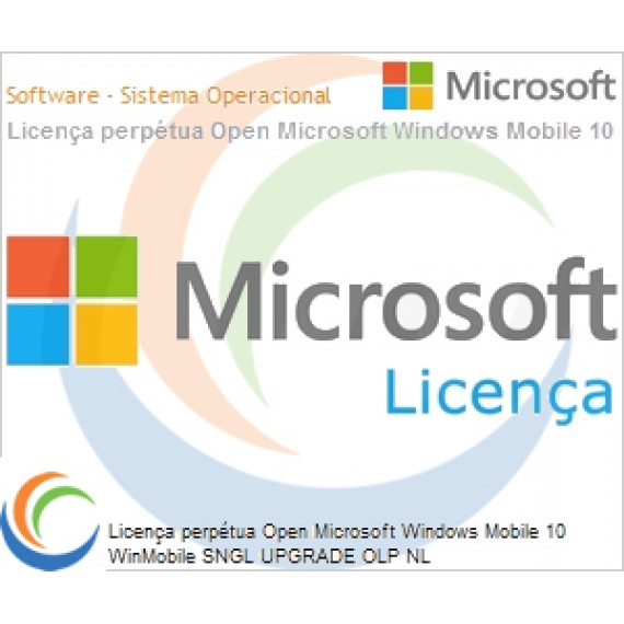 Licença perpétua Open Microsoft Windows Mobile 10 WinMobile SNGL UPGRADE OLP NL