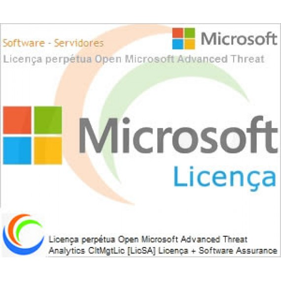 Microsoft Advanced Threat Analytics CltMgtLic [LicSA] Licença + Software Assurance OLP NL Per OSE